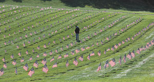 National Cemetery at Bourne on Memorial Day Weekend